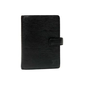 Louis Vuitton Black Epi Leather Medium Agenda